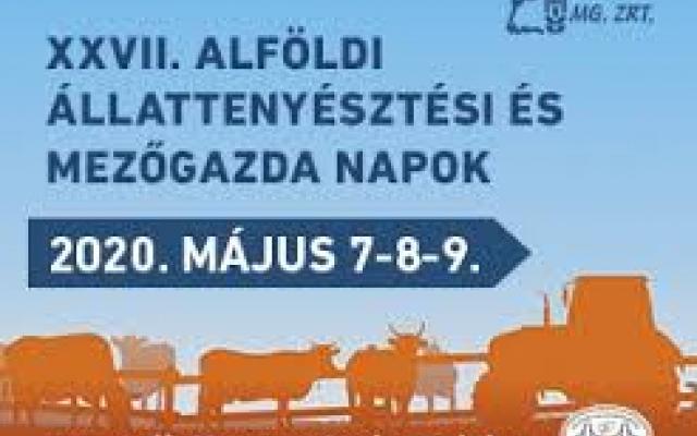 XXVII. Alföldi Állattenyésztési Napok elmaradnak!